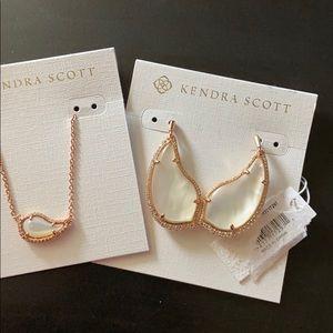 Authentic KS Rosegold MOP earrings